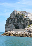 Medieval fortress in Peschici Royalty Free Stock Images
