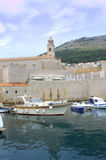 Medieval fortress and port,Dubrovnik Croatia Royalty Free Stock Image