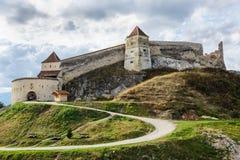 Medieval fortress in Rasnov, Transylvania, Brasov, Romania Royalty Free Stock Images