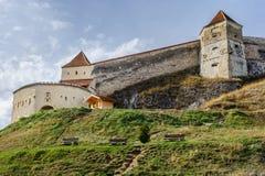 Medieval fortress in Rasnov, Transylvania, Brasov, Romania Stock Images