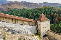 Medieval fortress in Rasnov, Transylvania, Brasov, Romania Stock Photos