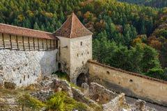 Medieval fortress in Rasnov, Transylvania, Brasov, Romania Royalty Free Stock Photography