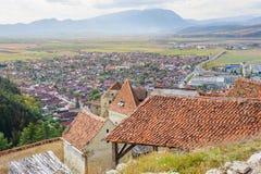Medieval fortress in Rasnov, Transylvania, Brasov, Romania Stock Image