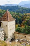 Medieval fortress in Rasnov, Transylvania, Brasov Royalty Free Stock Photo