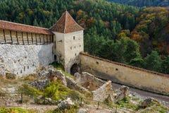 Medieval fortress in Rasnov, Transylvania, Brasov Stock Images