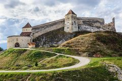 Medieval fortress in Rasnov, Transylvania, Brasov Stock Photography