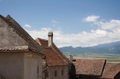 Medieval architecture. Medieval fortress  Rasnov in Transylvania, Romania Royalty Free Stock Image