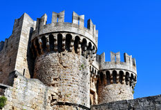 Medieval fortress of Rhodes. Stock Image