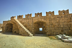 Medieval fortress in Rhodes, Greece. Royalty Free Stock Photography