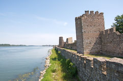 Medieval fortress on the river Danube in Smederevo. The medieval fortress in Smederevo was the palace of the Serbian monarch Despot Djuradj Brankovic. One part Royalty Free Stock Photography