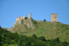 Medieval fortress on a rocky height in Transylvania Stock Photography