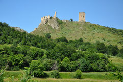 Medieval fortress on a rocky height in Transylvania Royalty Free Stock Image