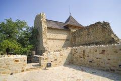 Medieval fortress ruins. At Suceava fortress, royal residence  of Moldavia Royalty Free Stock Photography