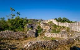 Medieval fortress ruins. Ulcinj, Montenegro. royalty free stock photo