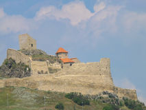 Medieval fortress of Rupea village. Transylvania, Romania Royalty Free Stock Images