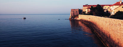 Medieval fortress Sea (Europe) Royalty Free Stock Image