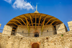 Medieval fortress in Soroca, Republic of Moldova. Architectural details of medieval fort in Soroca, Republic of Moldova. Fort built in 1499 by Moldavian Prince royalty free stock images