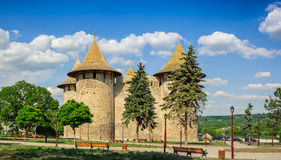 Medieval fortress in Soroca, Republic of Moldova. Extra Hi-Res view of medieval fort in Soroca, Republic of Moldova. Fort built in 1499 by Moldavian Prince royalty free stock photos