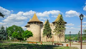 Medieval fortress in Soroca, Republic of Moldova. Panoramic high resolution view of medieval fort in Soroca, Republic of Moldova. Fort  built in 1499 by Royalty Free Stock Photo