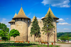 Medieval fortress in Soroca, Republic of Moldova. View of medieval fort in Soroca, Republic of Moldova. Fort built in 1499 by Moldavian Prince Stephen the Great stock photos