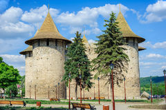 Medieval fortress in Soroca, Republic of Moldova. View of medieval fort in Soroca, Republic of Moldova. Fort built in 1499 by Moldavian Prince Stephen the Great royalty free stock image