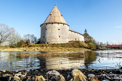 Medieval fortress in Staraya Ladoga.Russia. Royalty Free Stock Photography