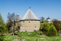 Medieval fortress in Staraya Ladoga.Russia. Royalty Free Stock Image