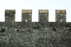 Medieval fortress stone wall Royalty Free Stock Images