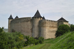 Medieval fortress in summer day Royalty Free Stock Image