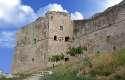 Medieval fortress on top of Vieste town Royalty Free Stock Images