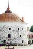 Medieval fortress. Tourist attractions of Vyborg. Vertical photo stock image