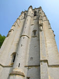 Medieval fortress tower. In french abbey Royalty Free Stock Images