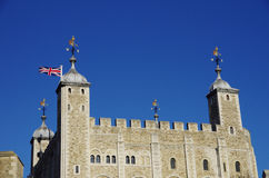 The medieval fortress of the Tower of London Royalty Free Stock Image