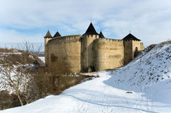 Medieval fortress with towers Stock Image