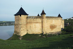 Medieval fortress with towers Royalty Free Stock Image