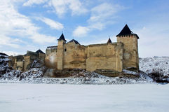 Medieval fortress with towers Royalty Free Stock Photos