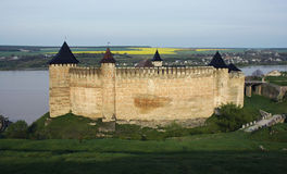 Medieval fortress with towers Stock Photography