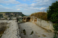 Medieval fortress town Chufut-Kale, Bakhchisaray, Crimea Stock Photography