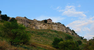 Medieval fortress town Chufut-Kale, Bakhchisaray, Crimea Stock Photos