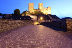 Medieval fortress in town Runkel. Germany Royalty Free Stock Photo