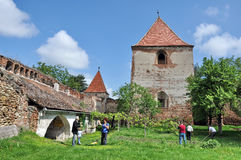 Medieval fortress in Transylvania Stock Image