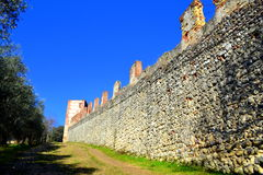 Medieval fortress wall Royalty Free Stock Images