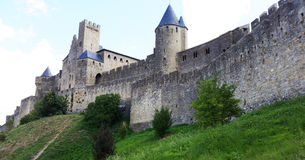 Medieval fortress and walled city of Carcassone Stock Photo