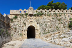Medieval fortress walls and gate Stock Images