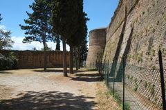 Free Medieval Fortress Walls In Cesena, Italy Royalty Free Stock Photos - 138866878