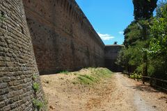 Free Medieval Fortress Walls In Cesena, Italy Stock Images - 138866994