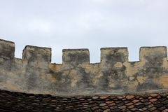 Medieval fortress walls Royalty Free Stock Images