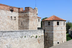 Medieval Fortress Walls and Tower. The walls and the tower of the medieval fortress Baba Vida in Vidin, northwestern Bulgaria. The fortress is one of the biggest Stock Photography