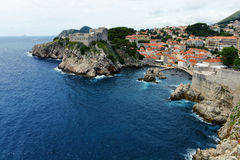 Medieval fortresses in Dubrovnik, Croatia Stock Image