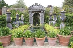 Medieval fountain in Arundel Castle garden, England Stock Photo